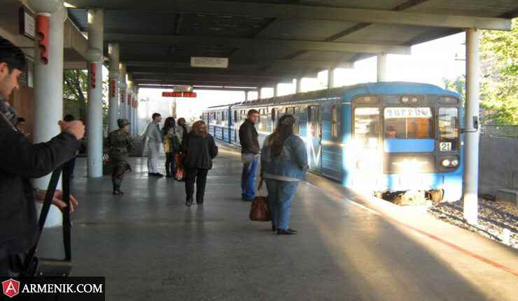 نقشه فارسی مترو ایروان 2021 و ایستگاه ها