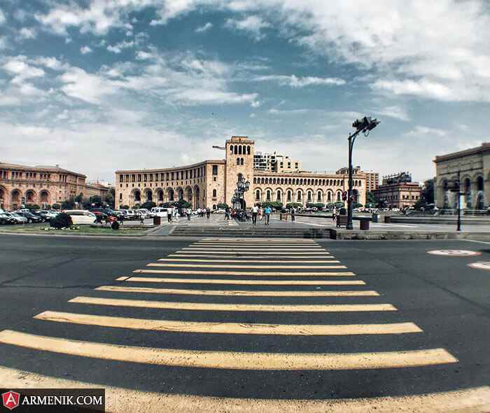 Republic Square Yerevan Different View