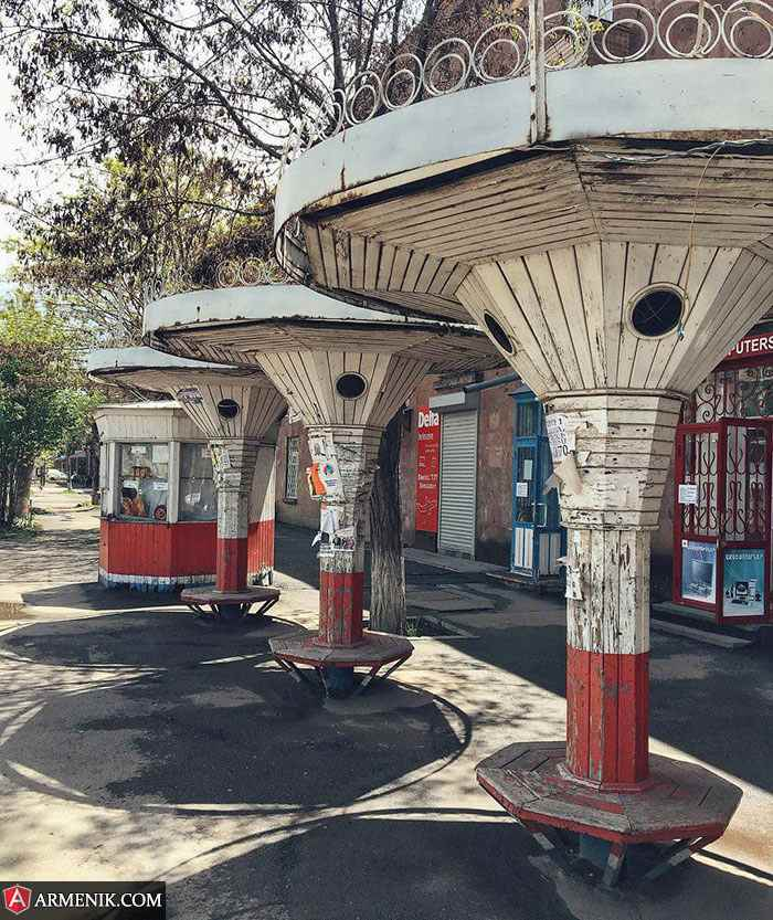 Soviet era bus stations Gyumri