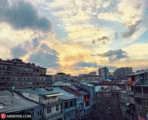 Sunset Yerevan Armenia