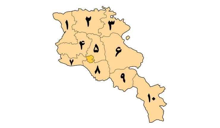 Armenia Provinces Map